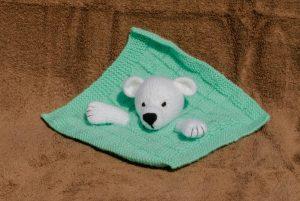 Mini Couverture tête d'ourson