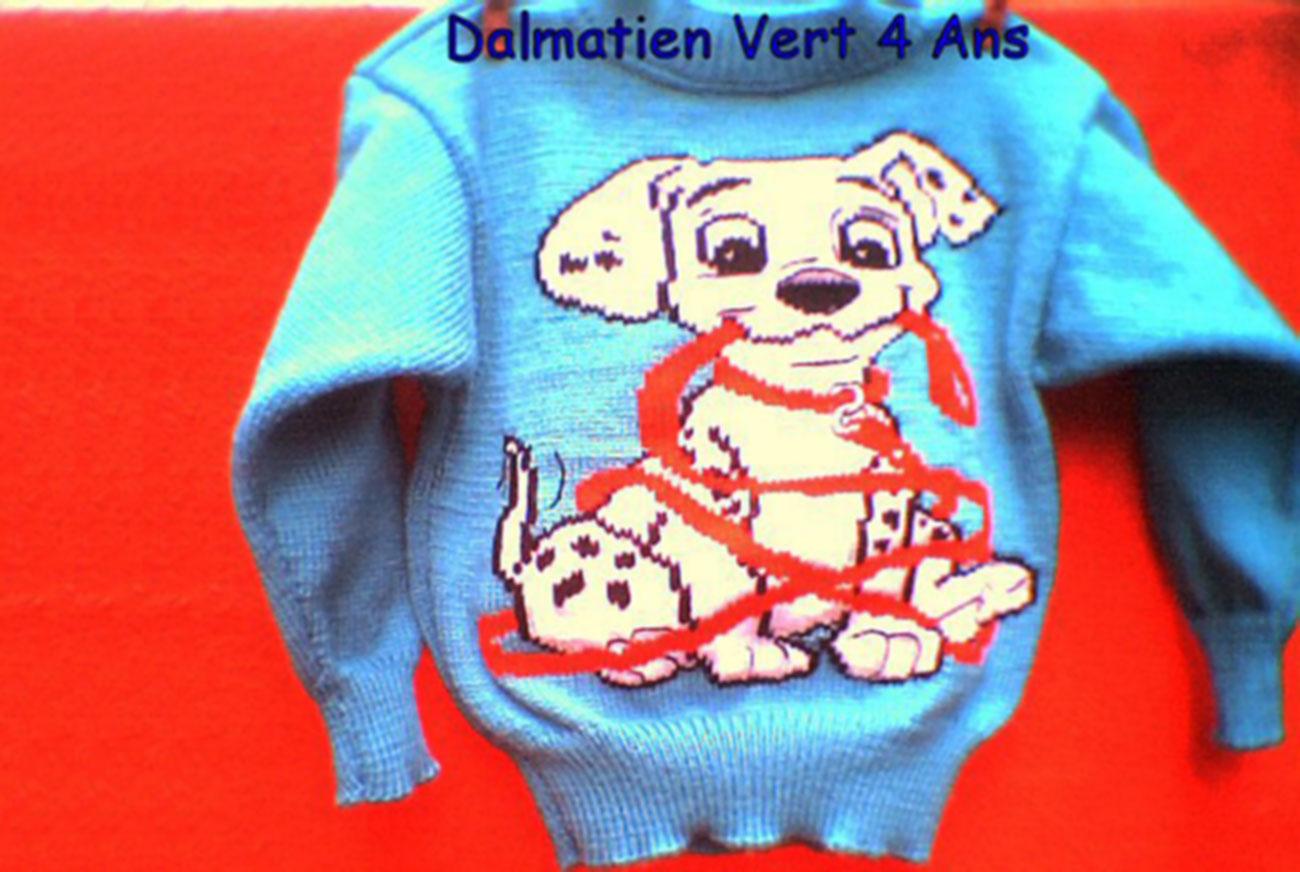 """Pull """"Bébé Dalmatien"""""""